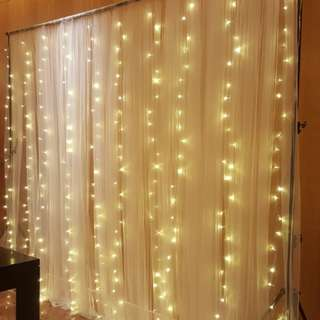 Fairylight backdrop rental