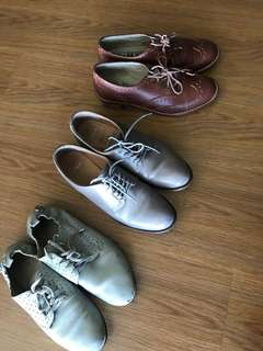 Designer and branded leather brogues