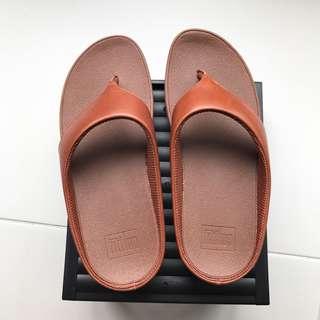 Women FitFlop Ringer Flip Flop Sandal C28-277 Dark Tan @sunwalker