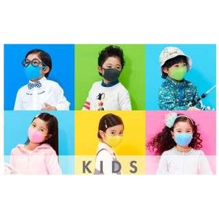 """* (現貨) * <兒童版 """"A款""""> 日本 Pitta 潮爆 3D立體 海綿口罩 一包3個 * 環保 * 可水洗循環使用"""