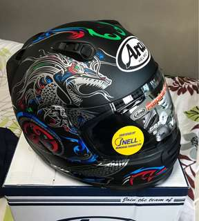 """ARAI RAPIDE-IR """"HYDRA SEA-DRAGON"""" LIMITED EDITION FROM JAPAN [SNELL certified]"""