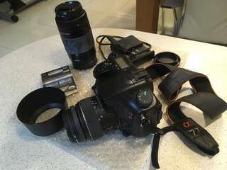 Sony A77 DSLR Camera with 2 Lenses