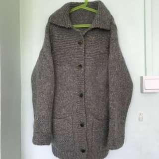 ☃Women's/ Ladies' Long Sleeve Winter Knitted Wool/ Woolen Grey Green Coat/ Jacket/ Sweater (Free Size)☃