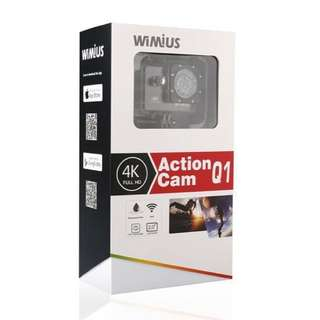 WIMIUS Q1 4K Action Camera Wifi Ultra HD 16MP Waterproof Sports Camera 2.0''