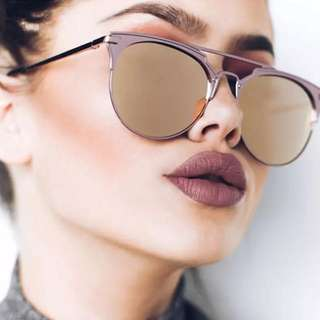Mirror Rose Gold Sunglasses Women Round Luxury Brand Female Sun Glasses For Women