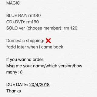[Pre Order] EXO CBX MAGIC