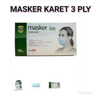 MASKER DEBU 3 PLY EARLOOP