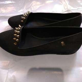 Melissa Black Shoes(Gamuza)