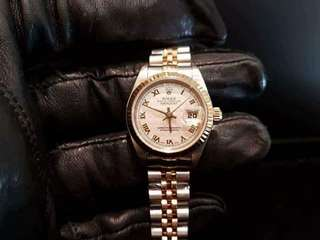 PREOWNED ROLEX Datejust, 69173 Yellow Rolesor, 18Ct Half Yellow Gold Steel, 26mm, Lady-size, T Series @ Year 1996 Ladies Watch