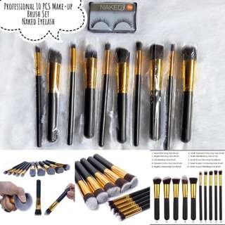 Professional Make-up Brush Set + Eyelash