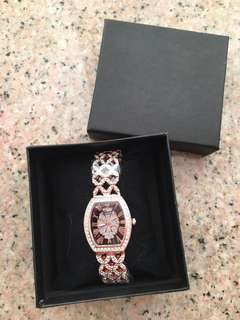 Bs swarovski studded watch