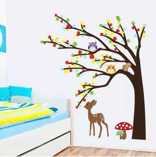 Tree and deer Wall Stickers Decals