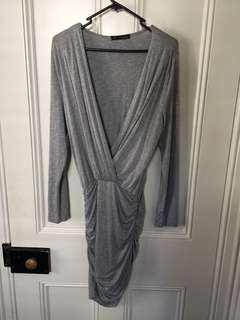 Grey longsleeve dress