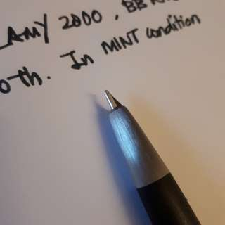 Fountain pen. Lamy 2000. BB nib