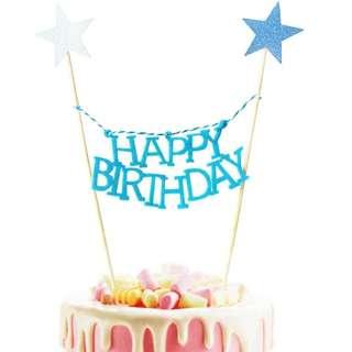 生日蛋糕插牌 裝飾 happy birthday字句