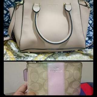 Sale/Swap Authentic Preloved Charles and Keith Bag and Coach Wristlet