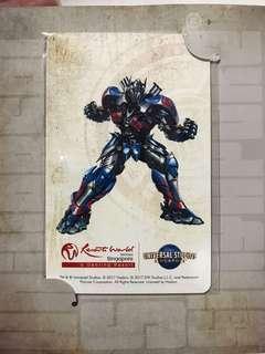Transformers Optimus Prime Ezlink card