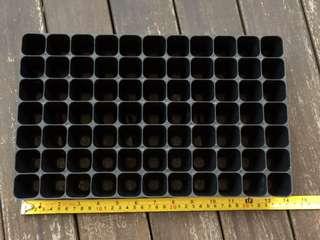 Seedling germination plug tray