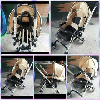 Combi stroller fully reclineable Japan made