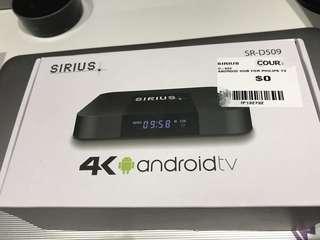 Sirius 4K Android Tv box