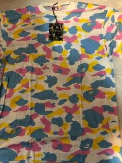全新正版 A Bathing Ape 絕版 Multi Camo Tee Bape T Shirt