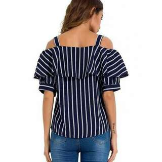 FREE SIZE FIT TO LARGE  ☑KOREAN TOP / OFF SHOULDER ☑COTTON FABRIC  ORDER NOW!!