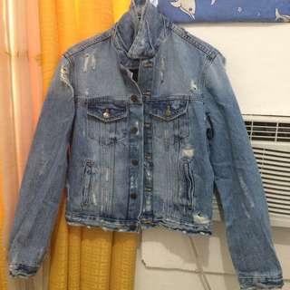 Zara trafaluc tattered jacket