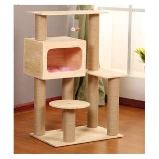 {InStock} Solid Wood Cat Condo W189S