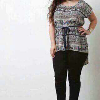 FREE SIZE FIT TO XL  ☑KOREAN PLUS SIZE TOPS ☑COTTON FABRIC / BELT INCLUDED  ORDER NOW!!