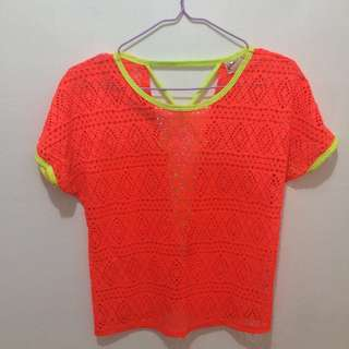 Neon top cover up