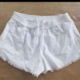 seed linen shorts