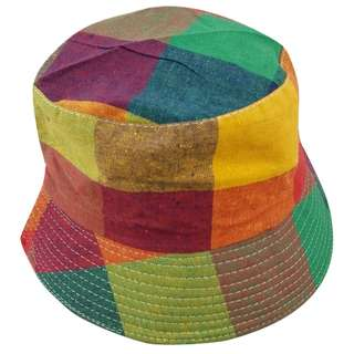 Bucket Hat - 90s Tribute (big squares) Canvas - Free Delivery Nationwide.
