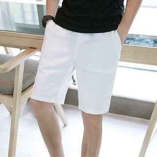 Men's White shorts bermudas