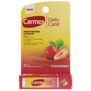 Carmex Daily Care Lip Balm, Strawberry SPF 15