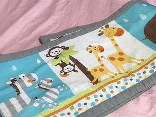 Breathable baby mesh cot bumper
