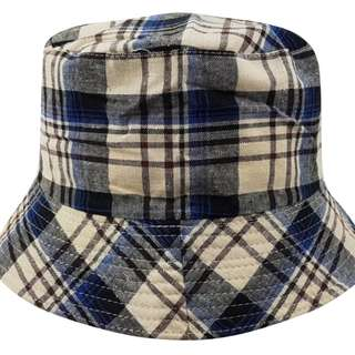 Bucket Hat - Lumberjack (Blue/White) Canvas - Free Delivery Nationwide.