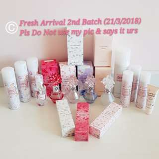 🛍🎁MONTHLY FRESH ARRIVAL: 21/3/2018🛍🎁Jill Stuart MARCH 2nd batch - Limited edition Crystal Bloom Hair mist/Loose Blusher/ Shampoo etc! (AUTHENTIC Latest Manufactured Date =BEST EFFECT) ❤Xiaoahgal replenish Monthly❤No Pet No Smoker Clean Hse