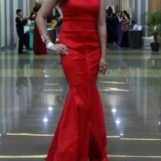 Red Serpentina / Mermaid Gown (Worn once)