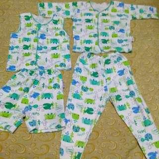 Baju tidur baby, tangan pnjng,tng pendek baby