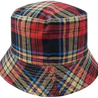 Bucket Hat - Lumberjack (Red/Black/Cream) Canvas - Free Delivery Nationwide.
