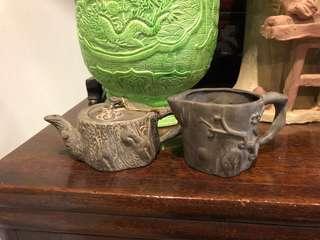 Vintage small zisha Teapot and jug