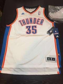 (執屋清衫平放)全新Adidas NBA OKC 35 Durant球衣(中童Size Youth XL)