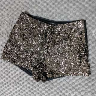 XXS Sequined shorts