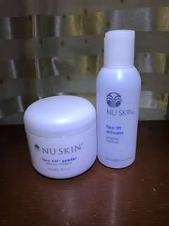 Nu Skin Face lift powder and activator