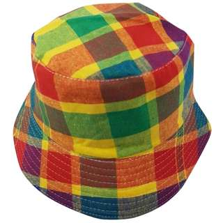 Bucket Hat - 90s Tribute (small squares) Canvas - Free Delivery Nationwide.