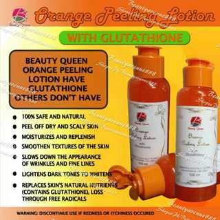 Orange peeling lotion with glutathione