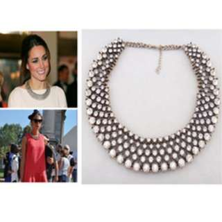 Crystal Ixora Statement Necklace