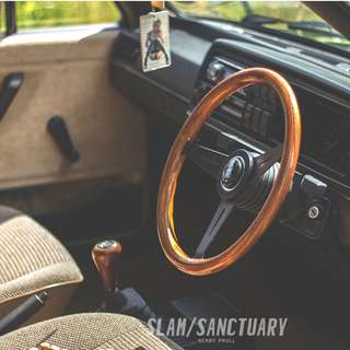 [PO} wooden retro look steering wheel