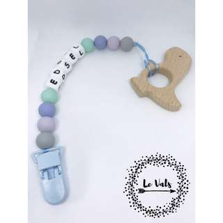 Pacifier Clip w/ Wooden teether