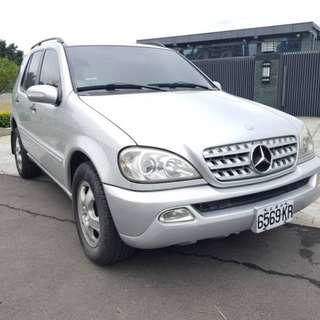 【廠牌】: Benz賓士  【型式】:ML321 銀色灰內裝 【年份】:2002年 【排氣量】:3.2L 【檔位】:自排  【售價】:15萬8  【地區】: 北投 【車況】: 天窗 4WD 103168Km 📲Line:King09091988      有興趣歡迎 Fb私訊 Jin Ming